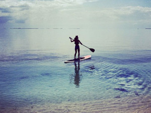 Paddleboarding at Turtle Inn Belize http://www.ecoworldly.com