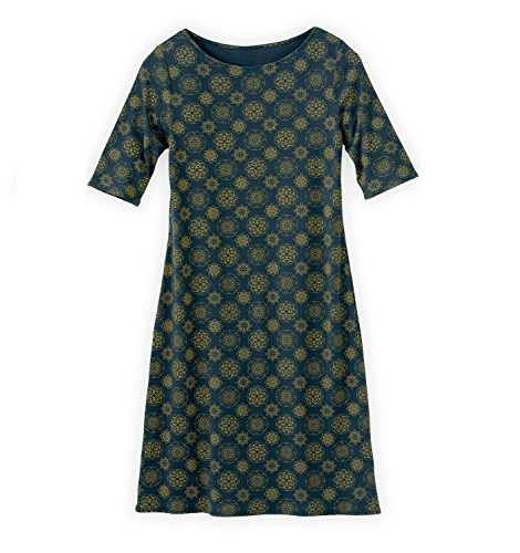 boat neck patterned dress