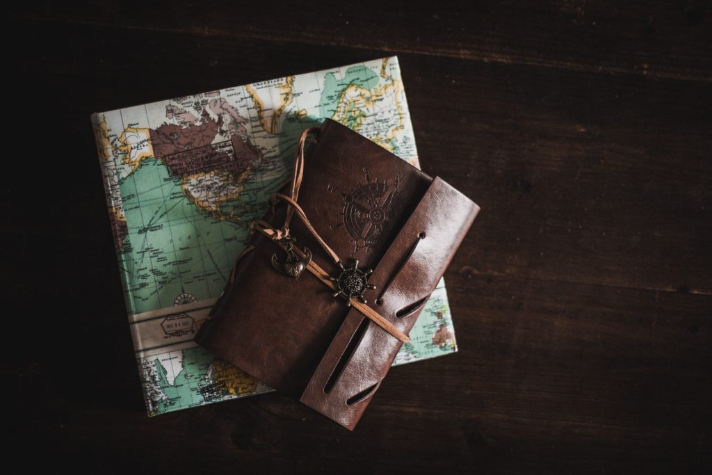 map and travel wallet