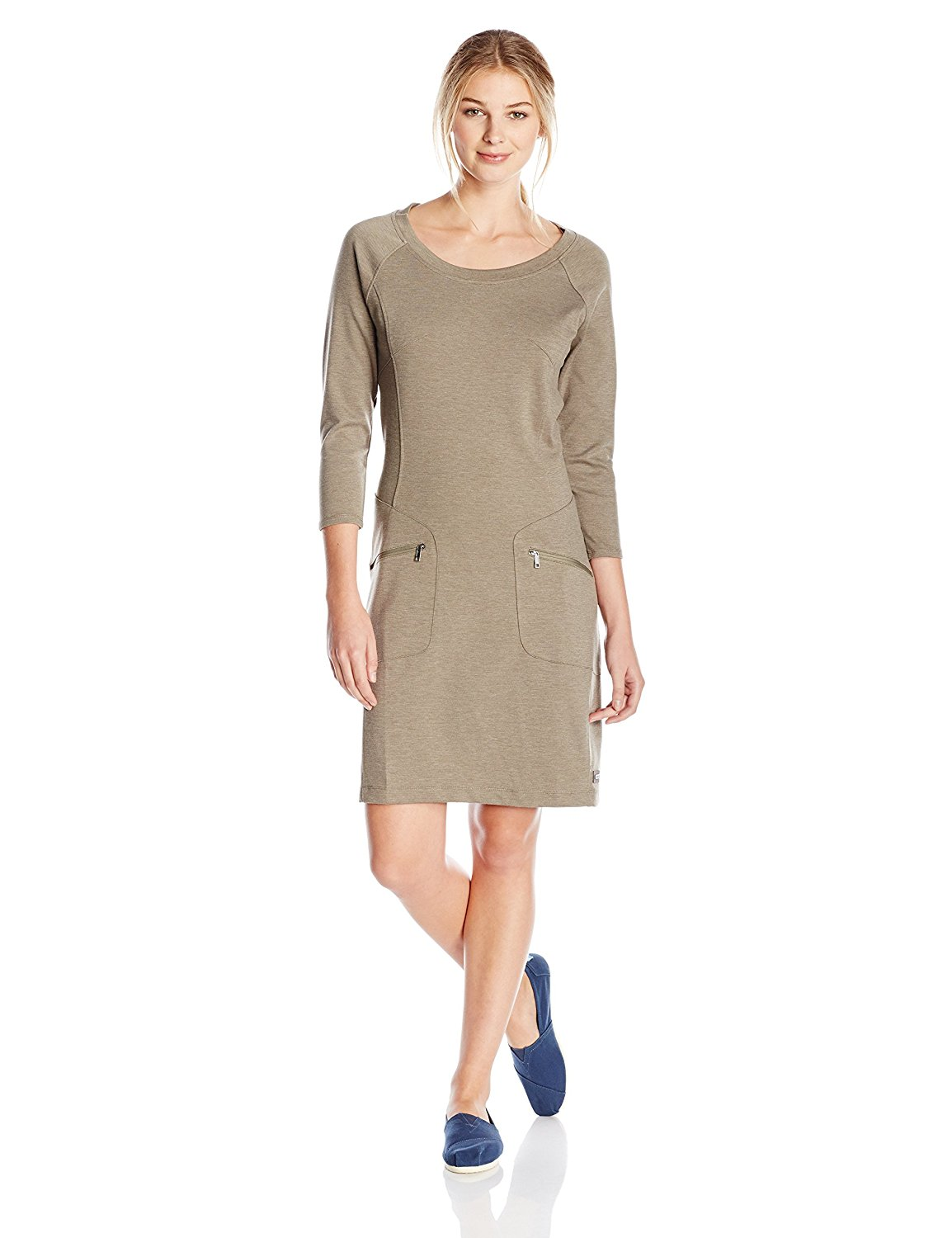 merrell tan travel dress with pockets