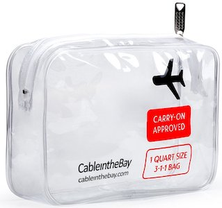 clear tsa approved toiletry bag